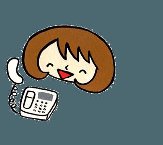 【便利屋】 暮らしなんでもお助け隊 福岡西店 に無料相談され、問題解決できることを知り、安心して笑顔がこぼれたご相談者の女性イラストです。(福岡を離れ遠方で暮らすご長女様をイメージしています)